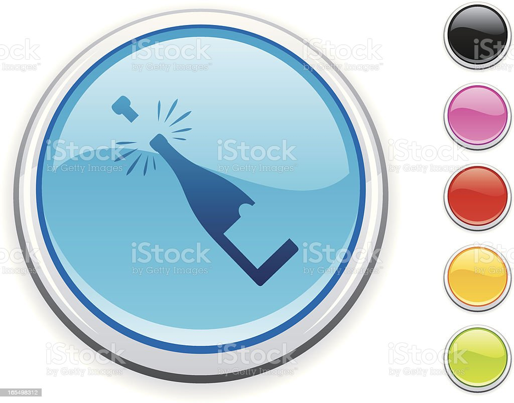 Champagne icon royalty-free stock vector art