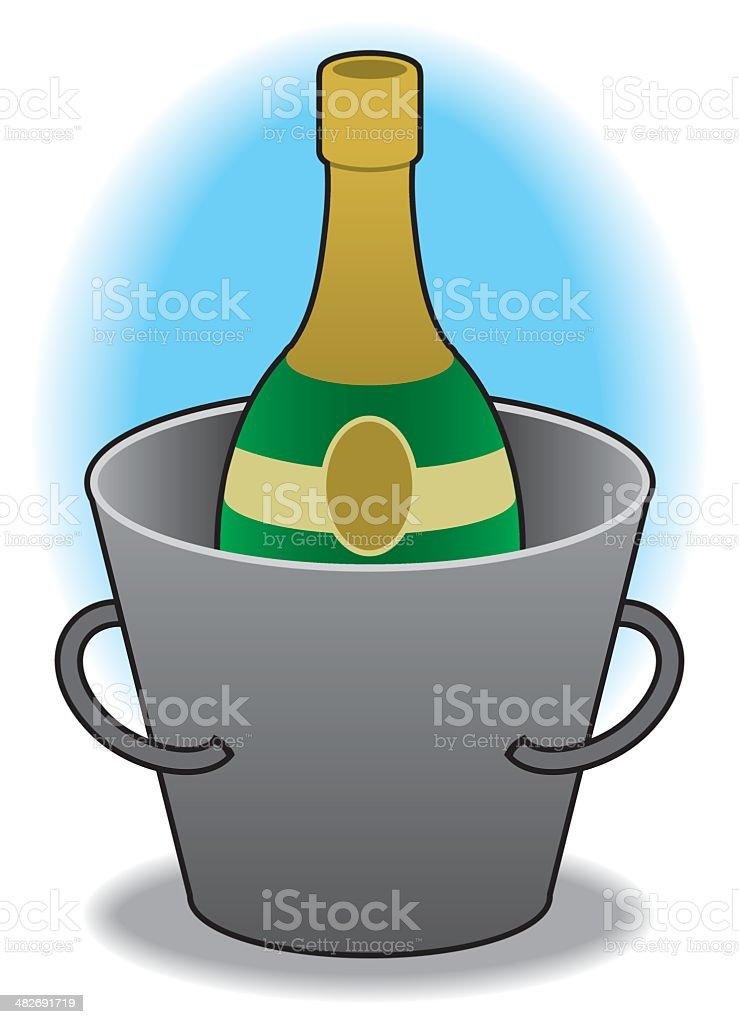Champagne in bucket royalty-free stock vector art