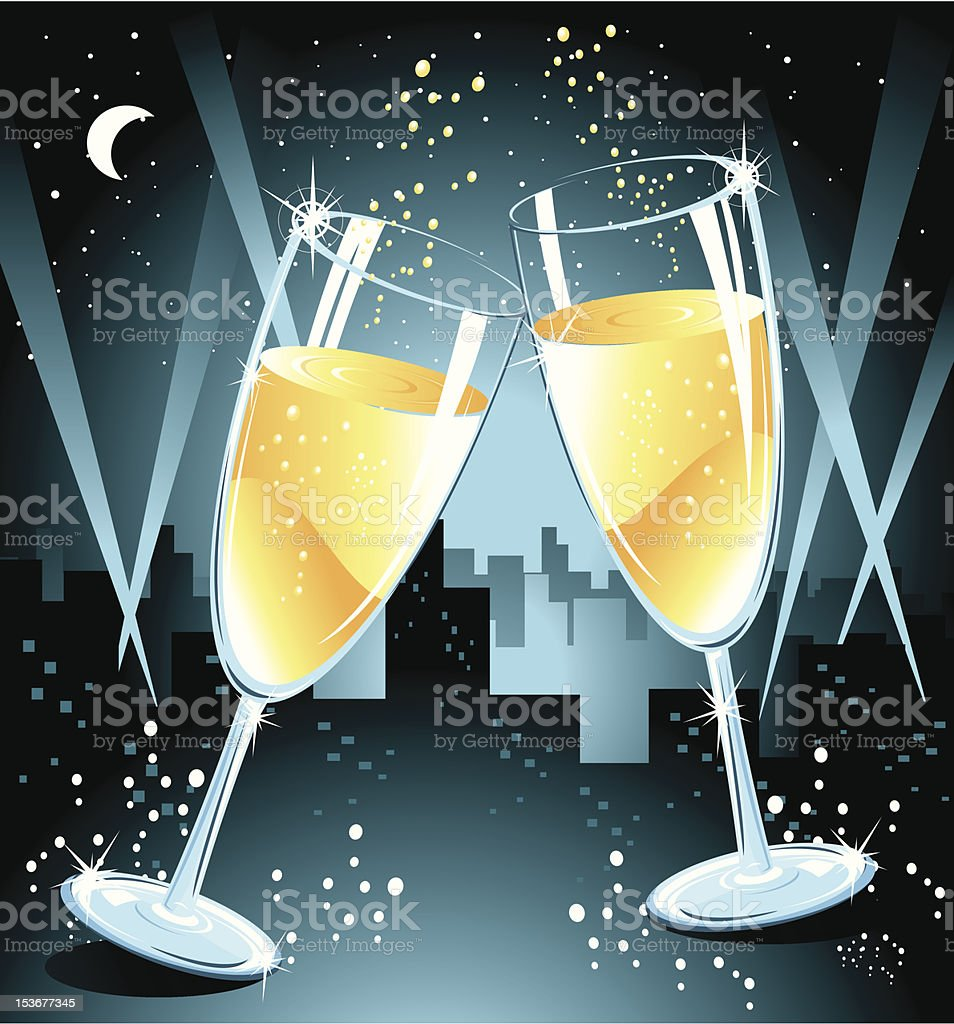 Champagne Super Celebrating royalty-free stock vector art