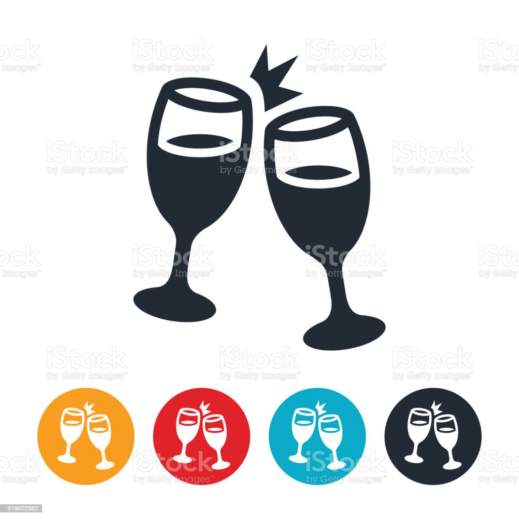 Champagne Toast Icon vector art illustration