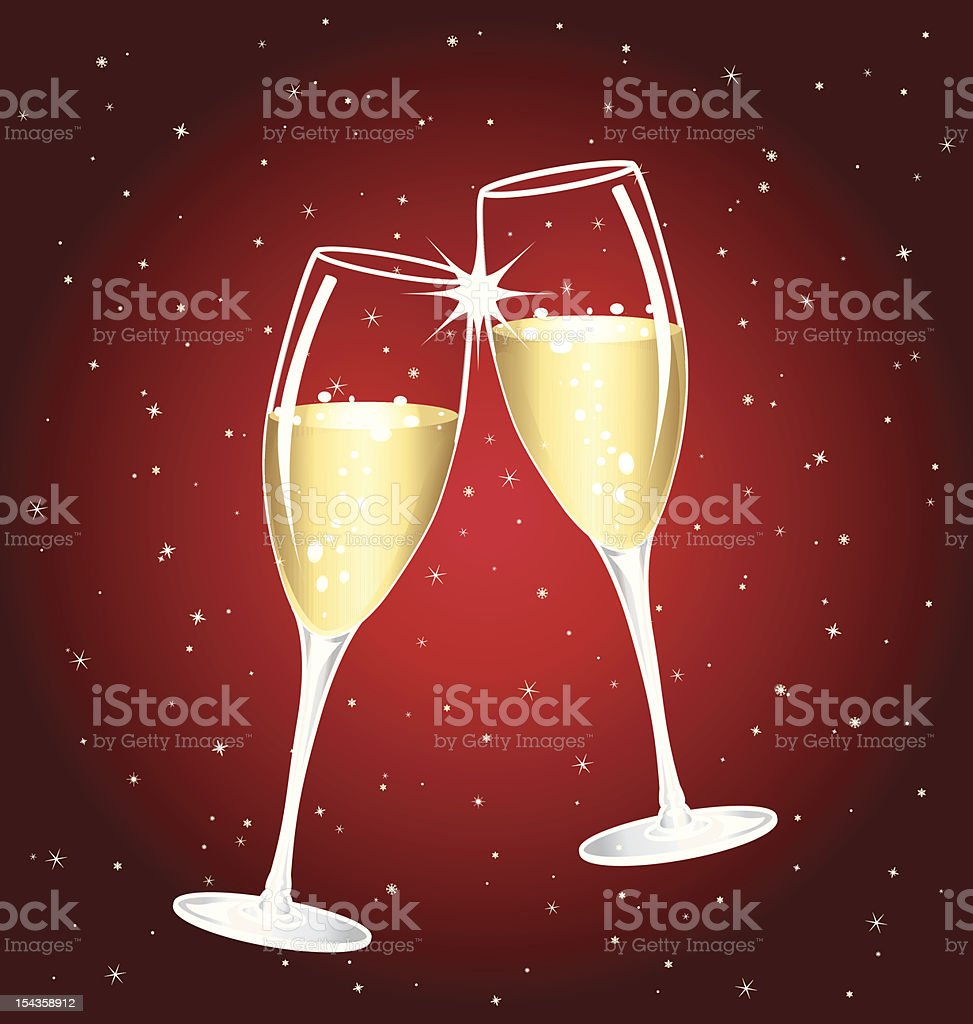 Champagne toast royalty-free stock vector art