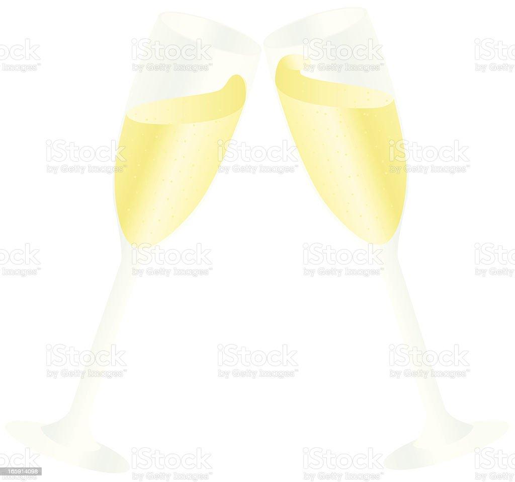 Champagne Toast vector art illustration