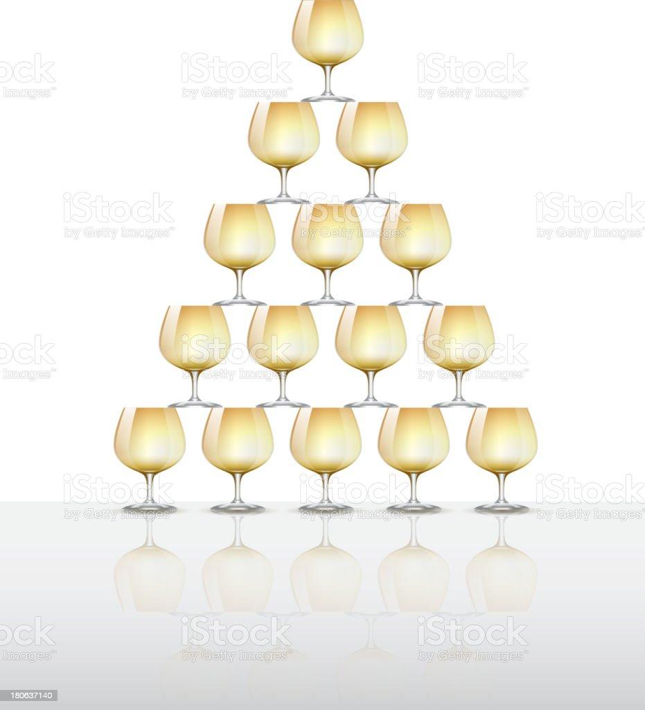 Champagne tower vector art illustration