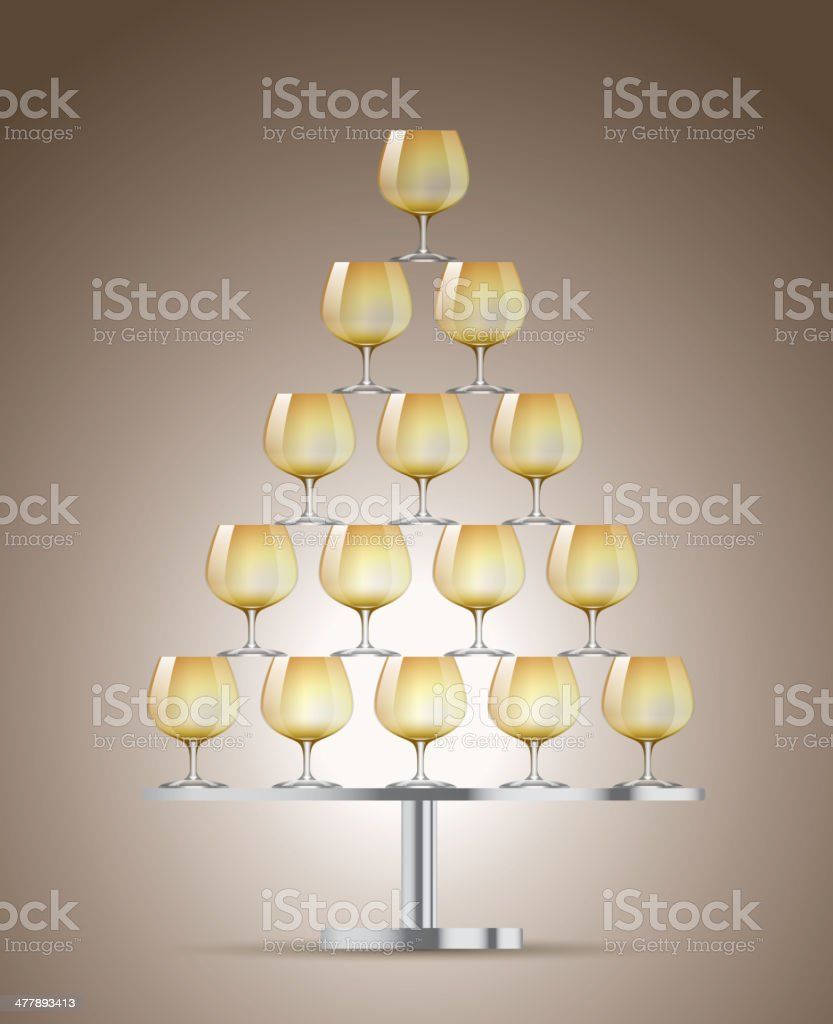 Champagne tower royalty-free stock vector art