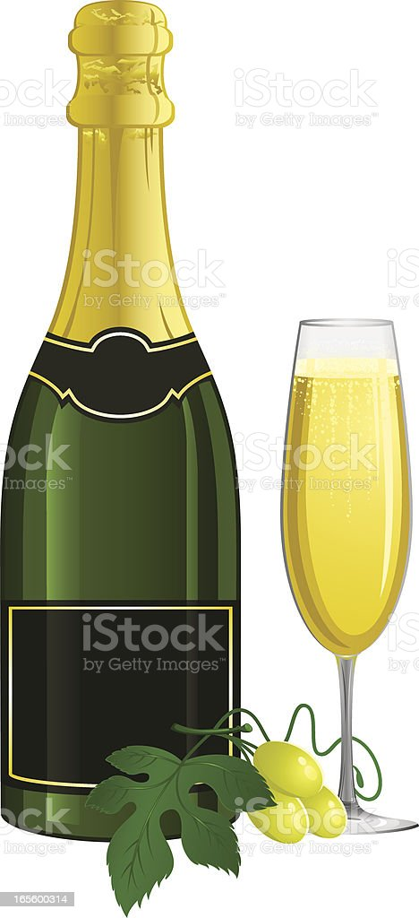 Champagne vector art illustration