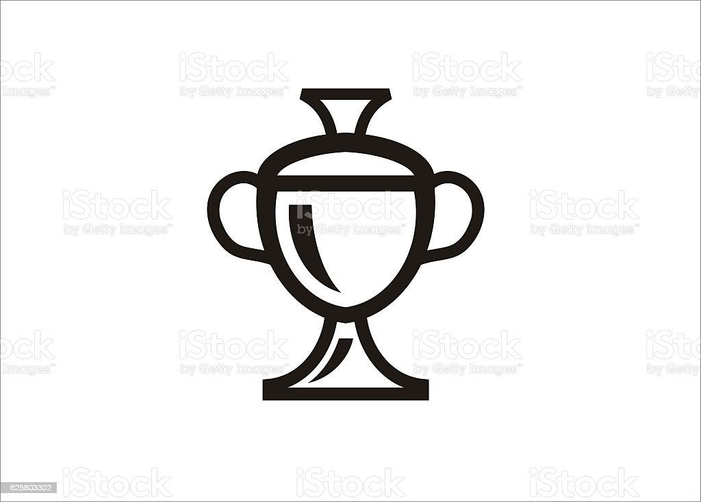 champion cup simple icon vector art illustration