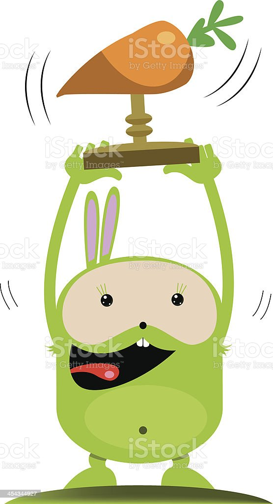 Champion rabbit royalty-free stock vector art