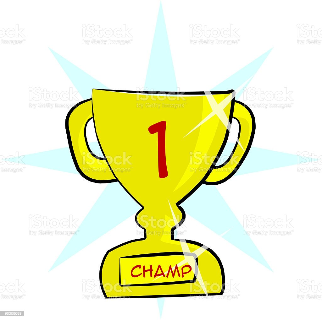 Champion Trophy [ 1st prize ] Award royalty-free stock vector art
