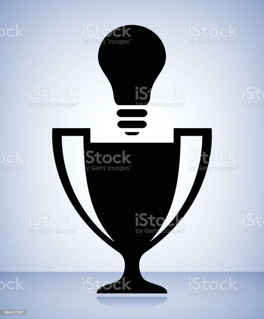 Champion Trophy Cup Light bulb Conceptual Vector Illustration vector art illustration