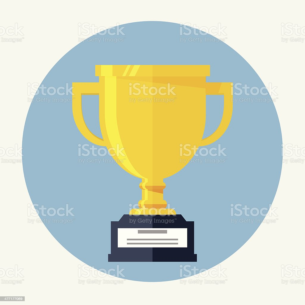 Champions Cup Flat Icon royalty-free stock vector art