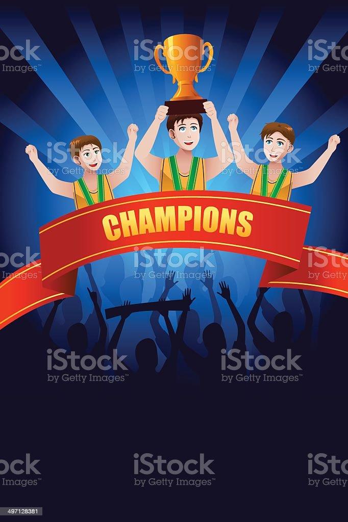 Champions poster vector art illustration