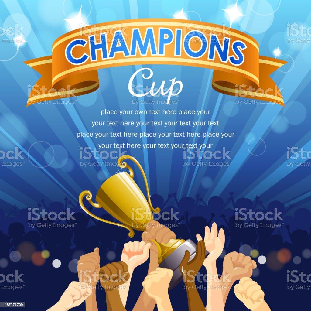 Champions Team. vector art illustration