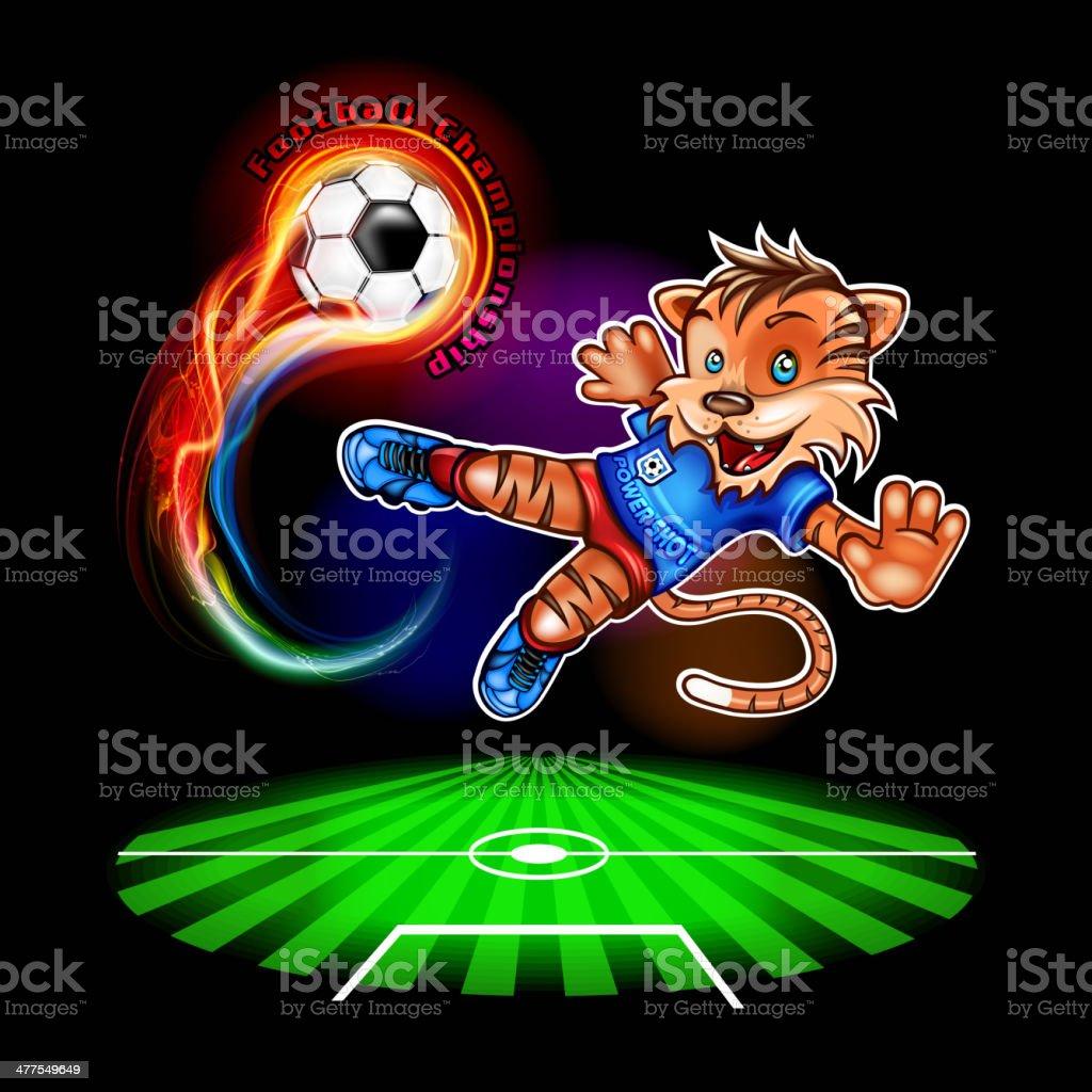 Championship football player vector art illustration