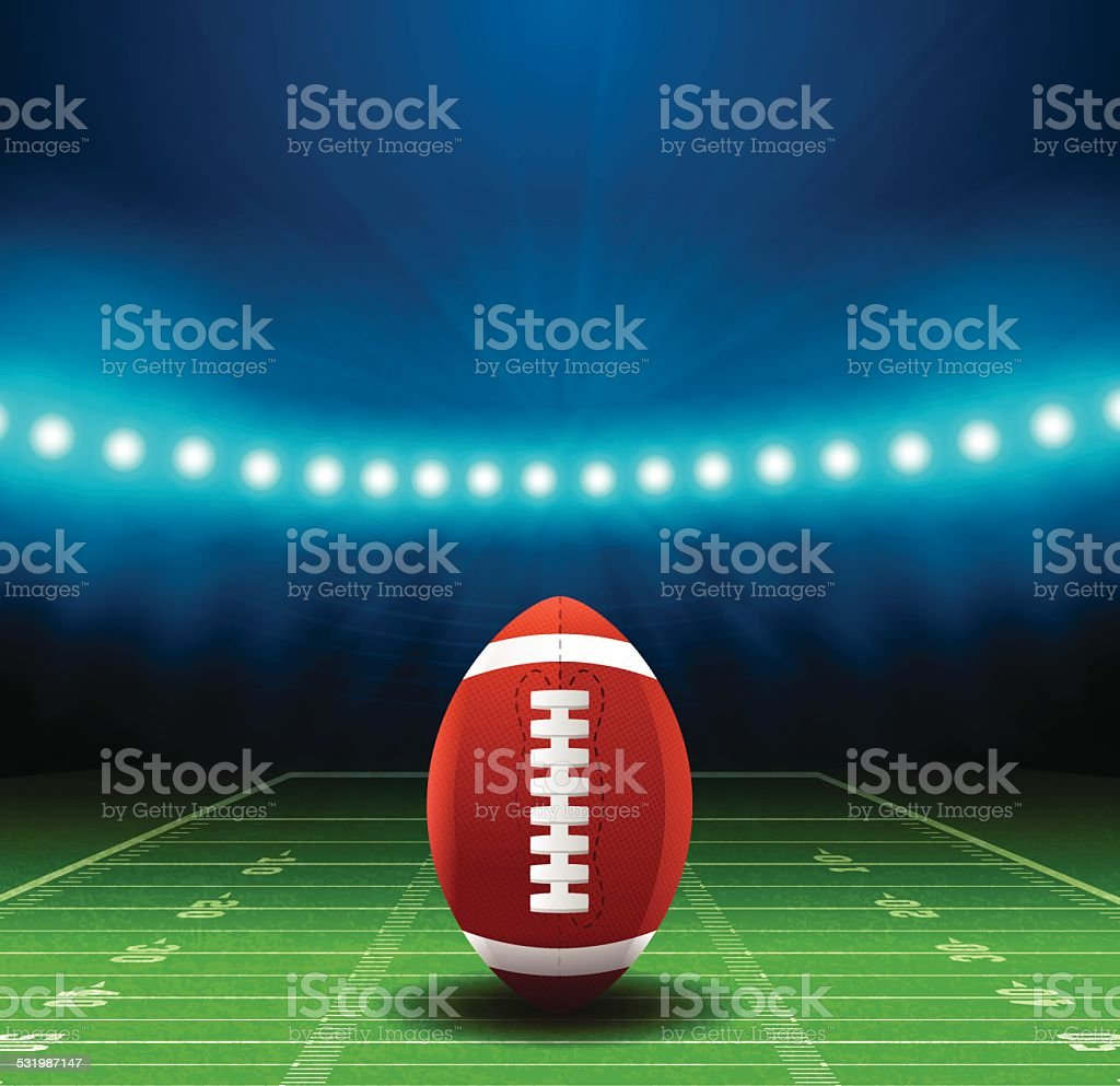 Superbowl Football Field Background vector art illustration