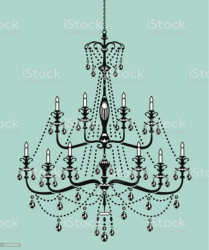 Chandelier in Victorian Style royalty-free stock vector art