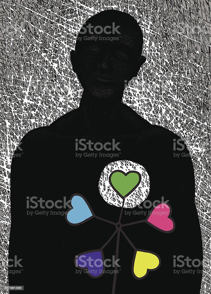 Change of hearts royalty-free stock vector art