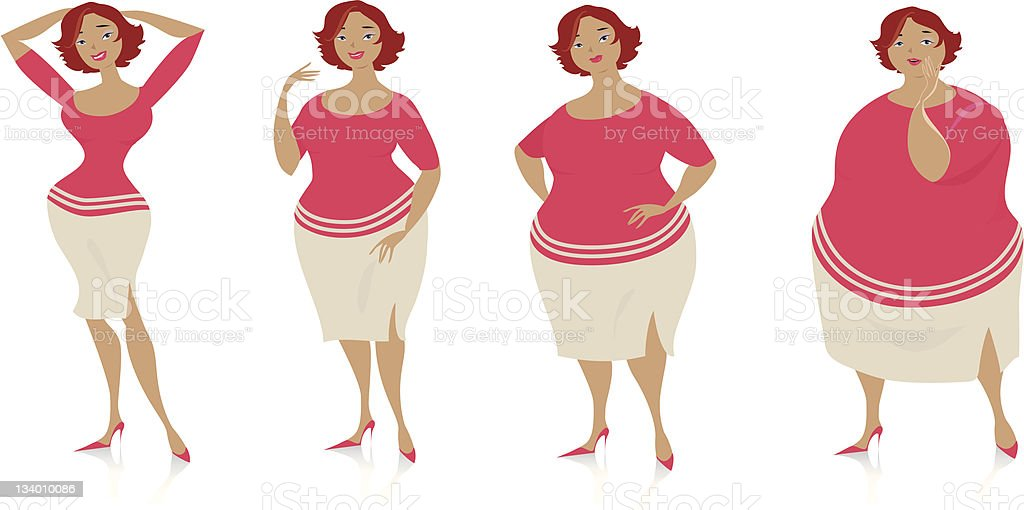 Changes of size after diet royalty-free stock photo