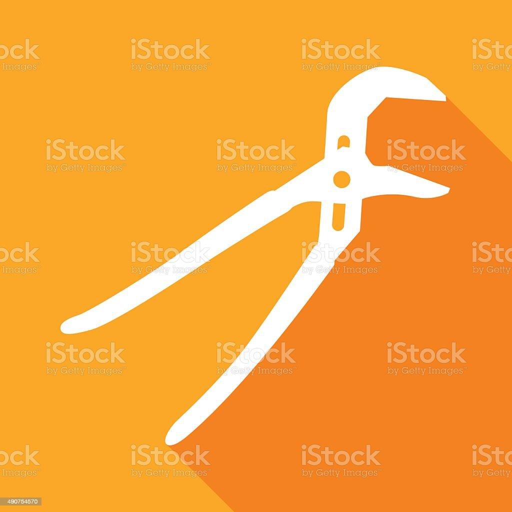 Channel Pliers Icon vector art illustration