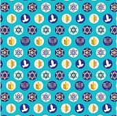 chanukah background pattern