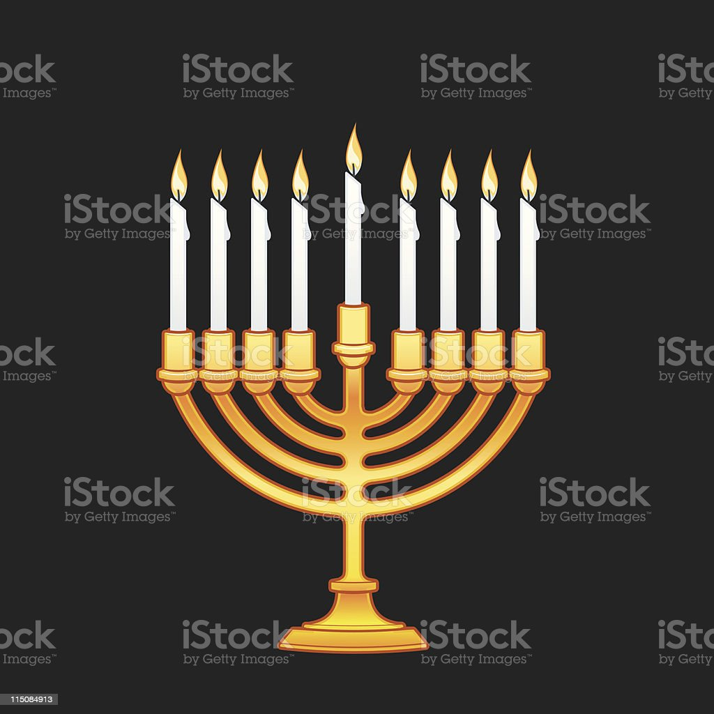 Chanukah - candles 9 piece royalty-free stock vector art
