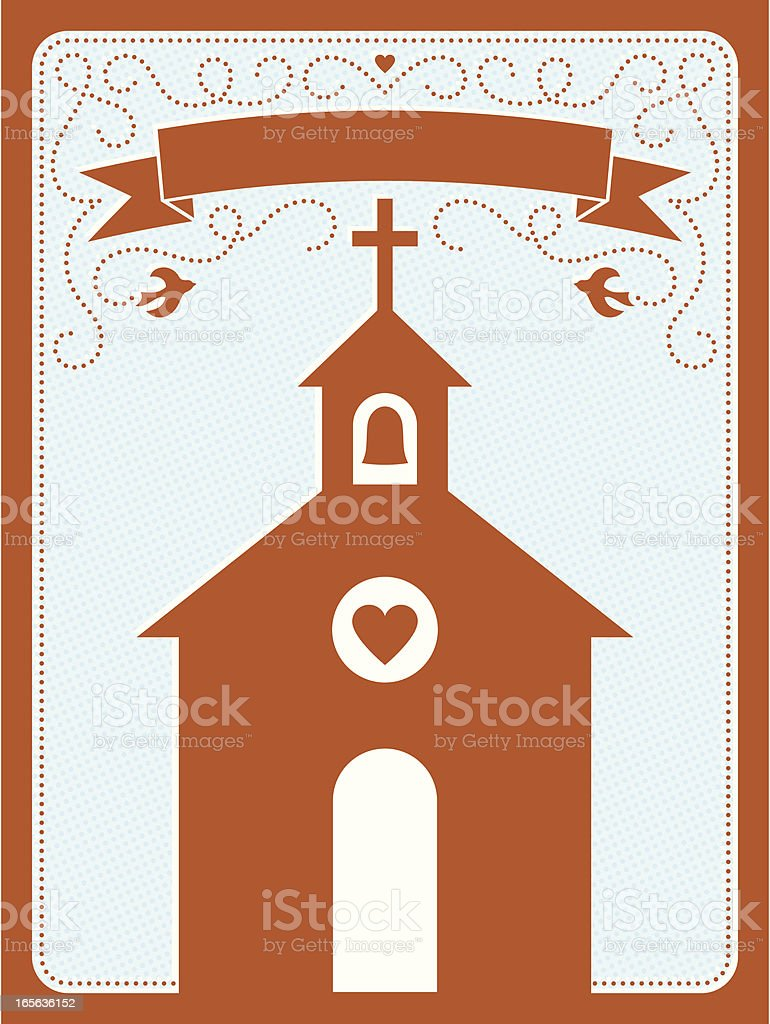 Chapel of Love royalty-free stock vector art