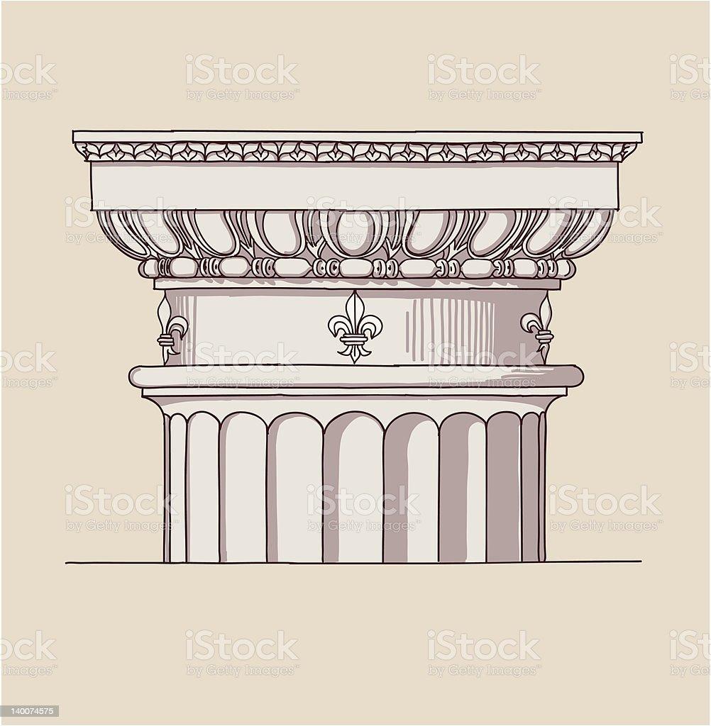 Chapiter - doric architectural order royalty-free stock vector art