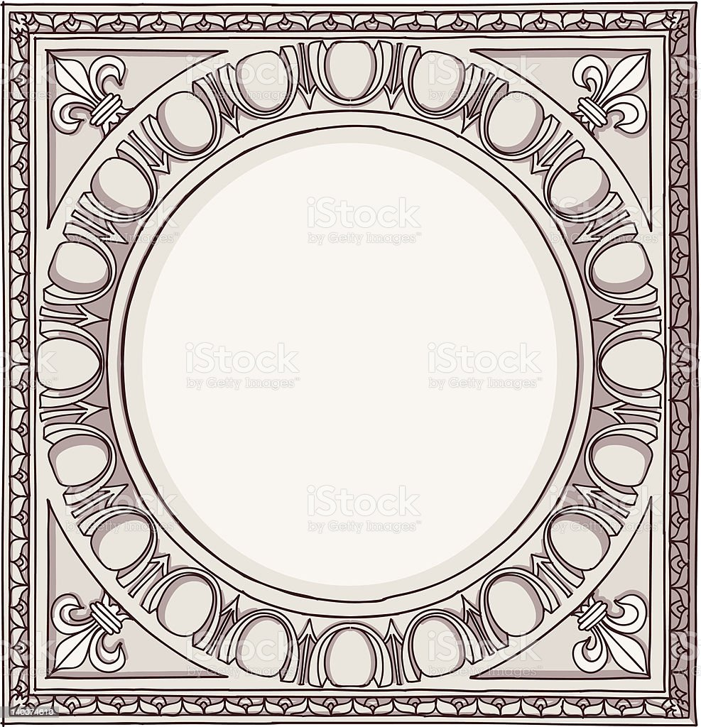 Chapiter - doric architectural order royalty-free stock vector art