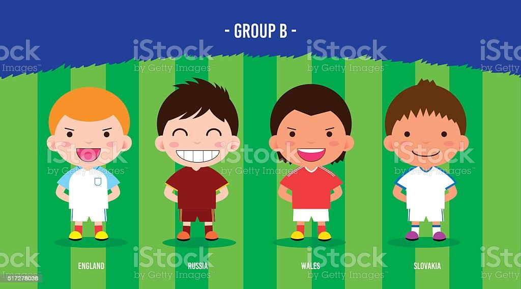 Character cartoon soccer players royalty-free stock vector art