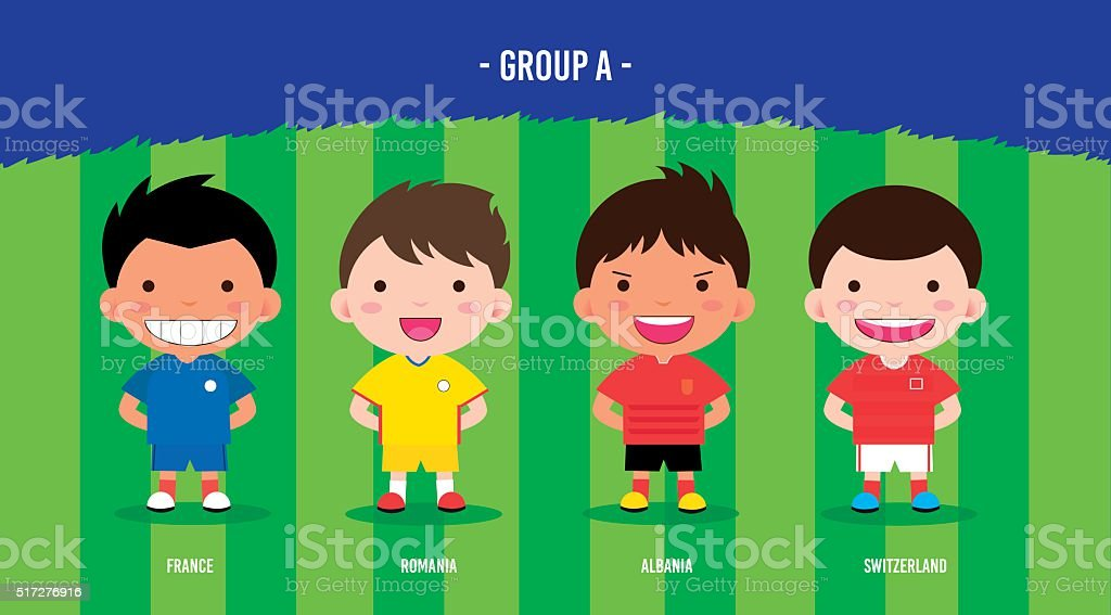 Character design with soccer football players royalty-free stock vector art