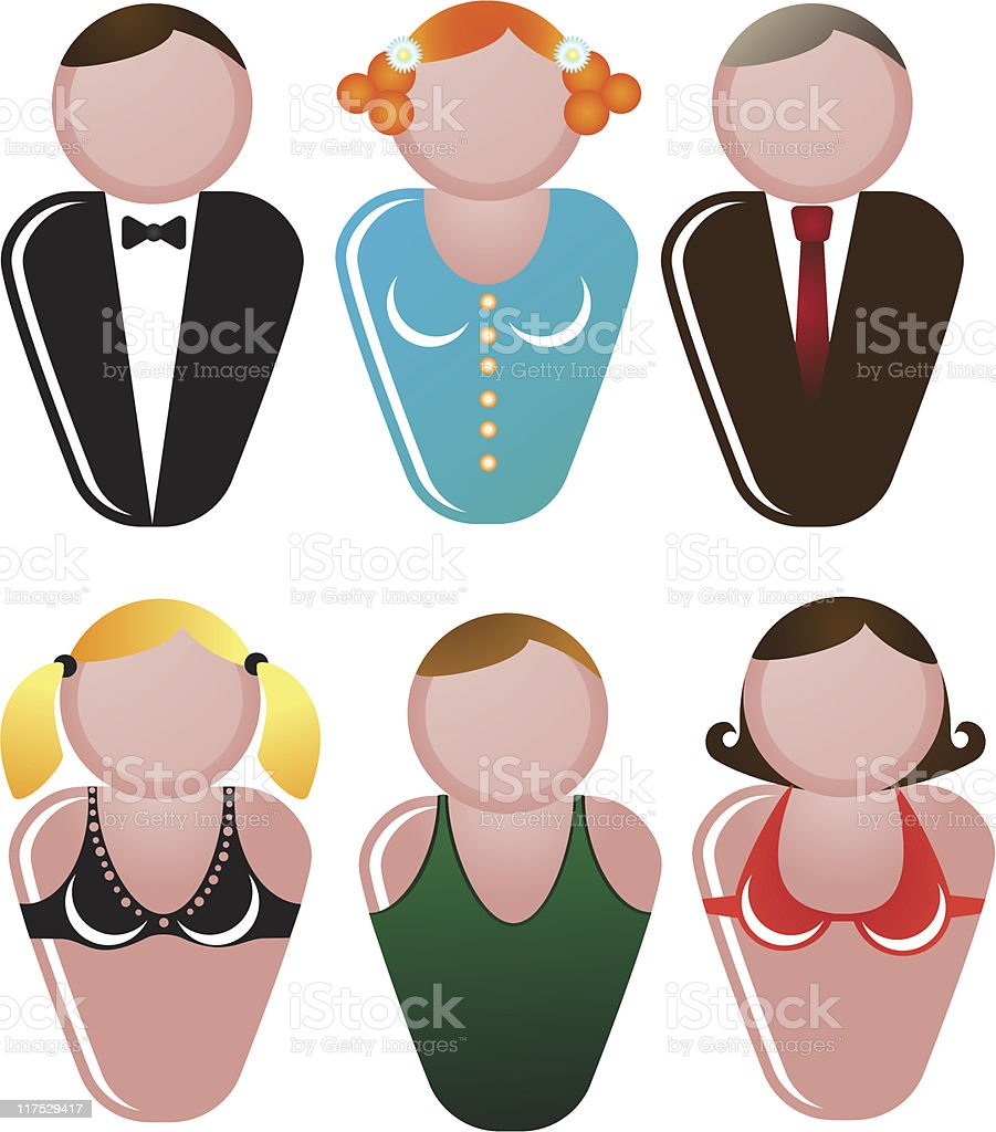 Character icon royalty-free stock vector art