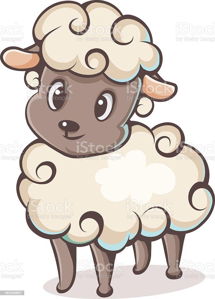 character lamb vector art illustration