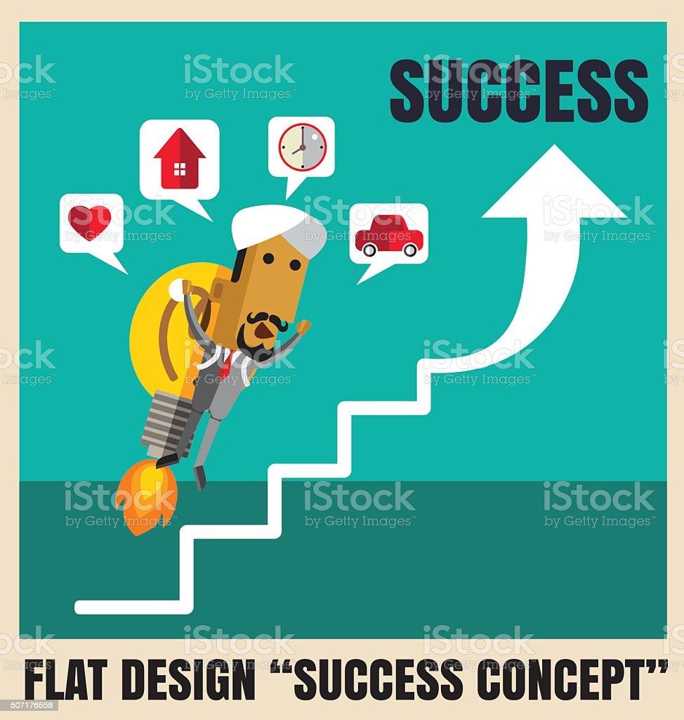 Charactor of arab businessmen vector art illustration