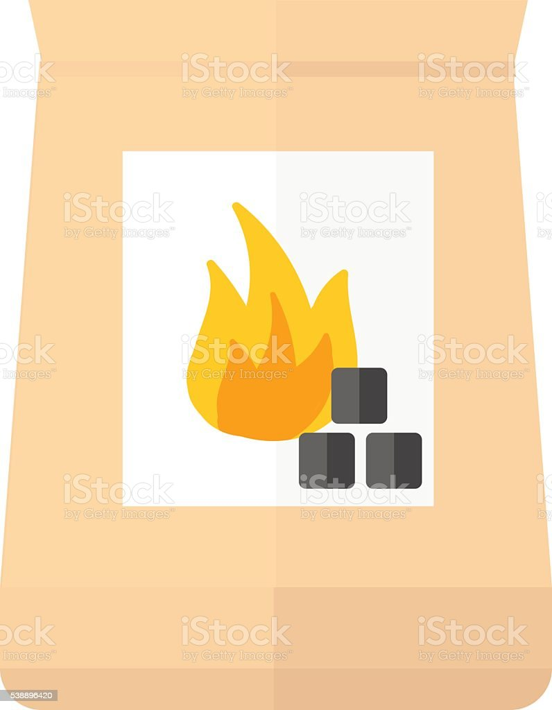 Charcoal col pack vctor illustration. vector art illustration