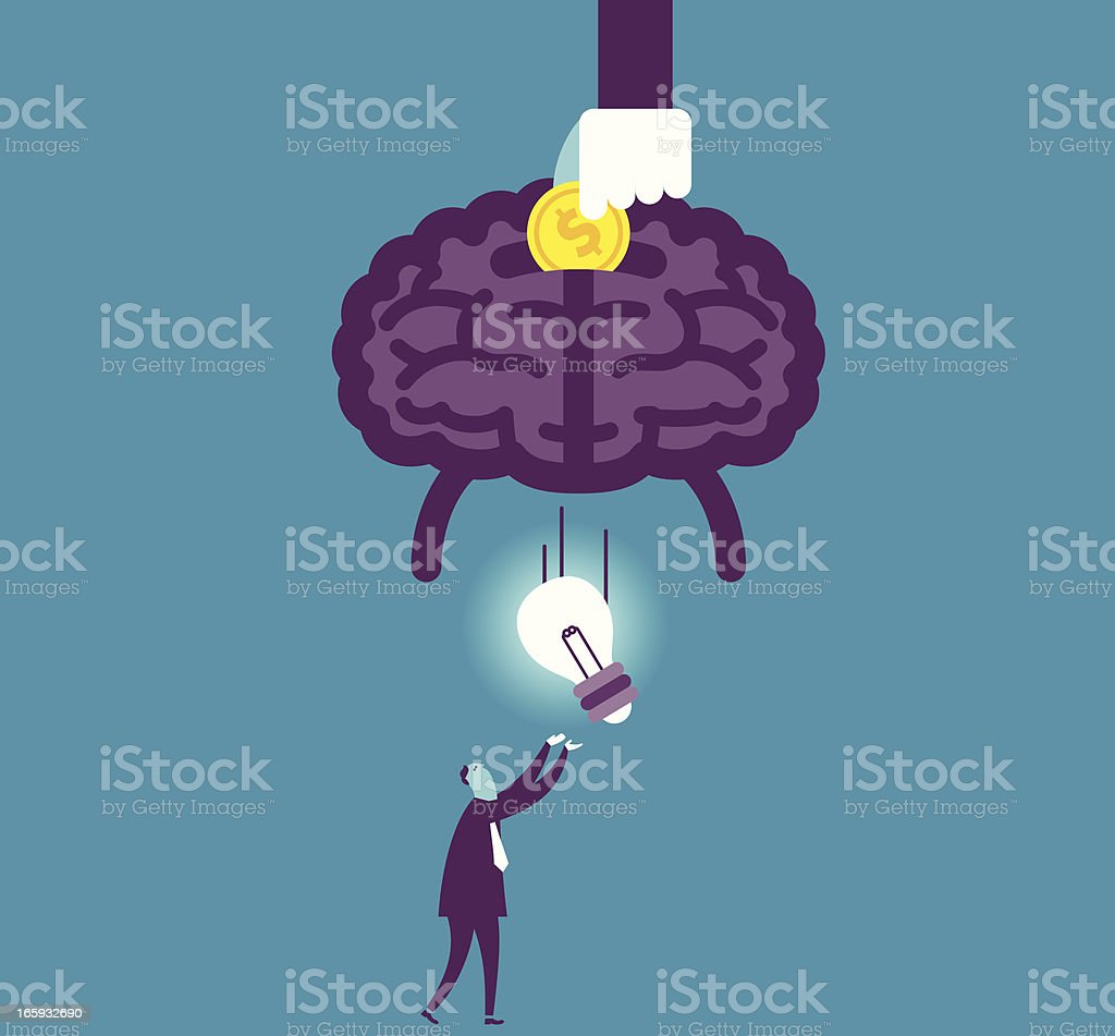 Charge for Idea vector art illustration