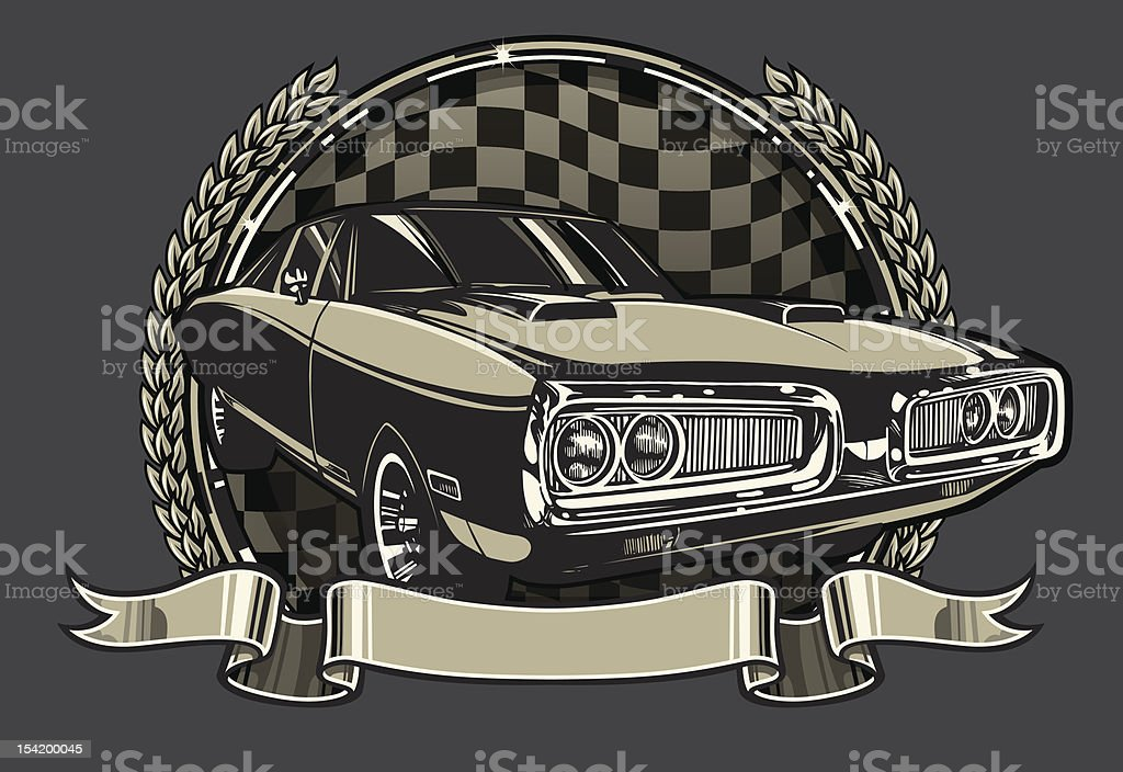 Charger Racing Champion Design vector art illustration