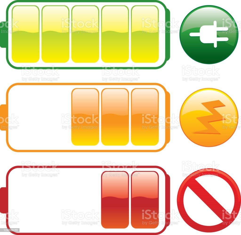 Charging battery vector art illustration