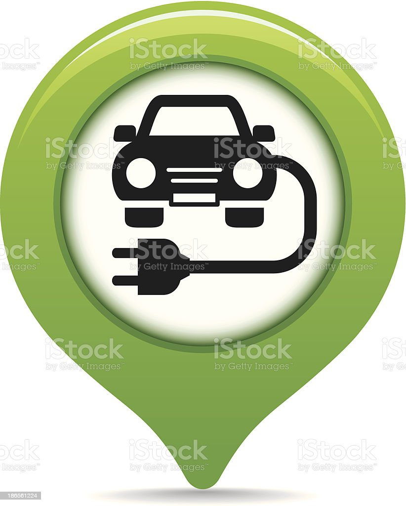 Charging point map pointer vector art illustration