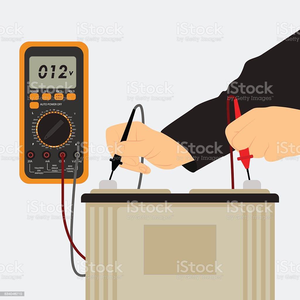 Charging the Battery vector art illustration
