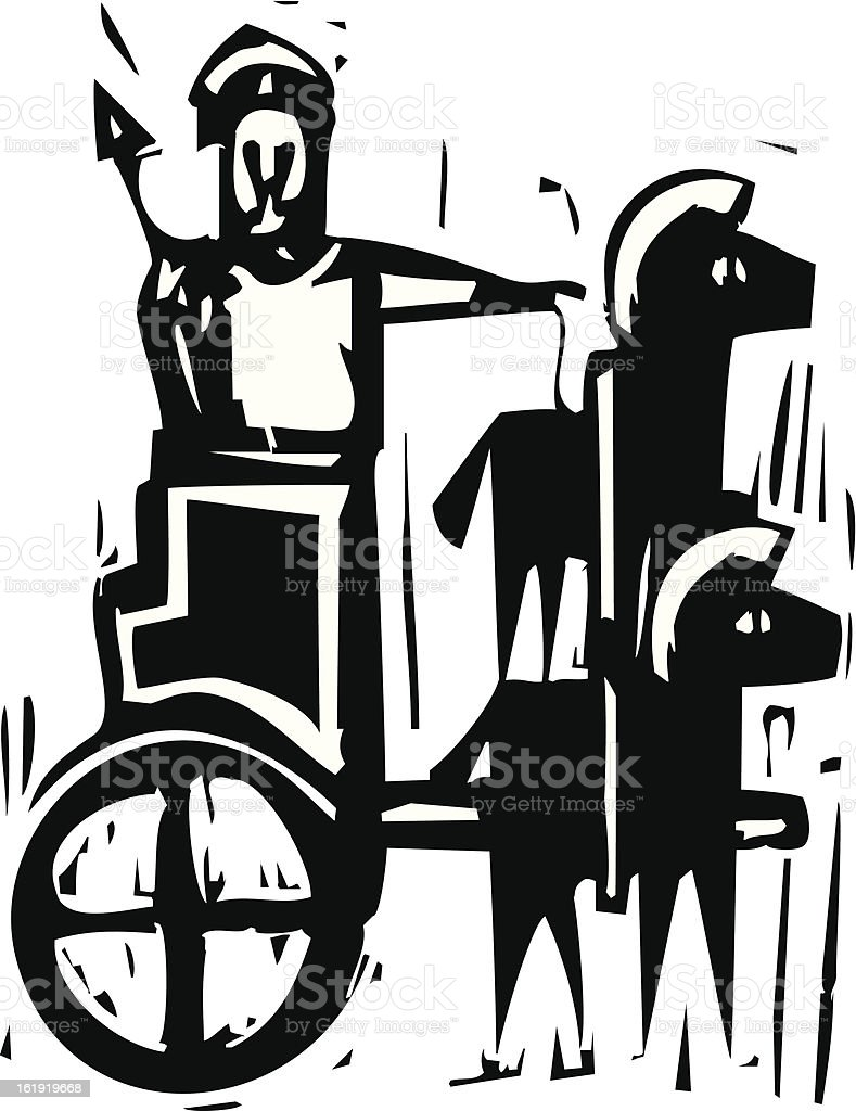Chariot royalty-free stock vector art