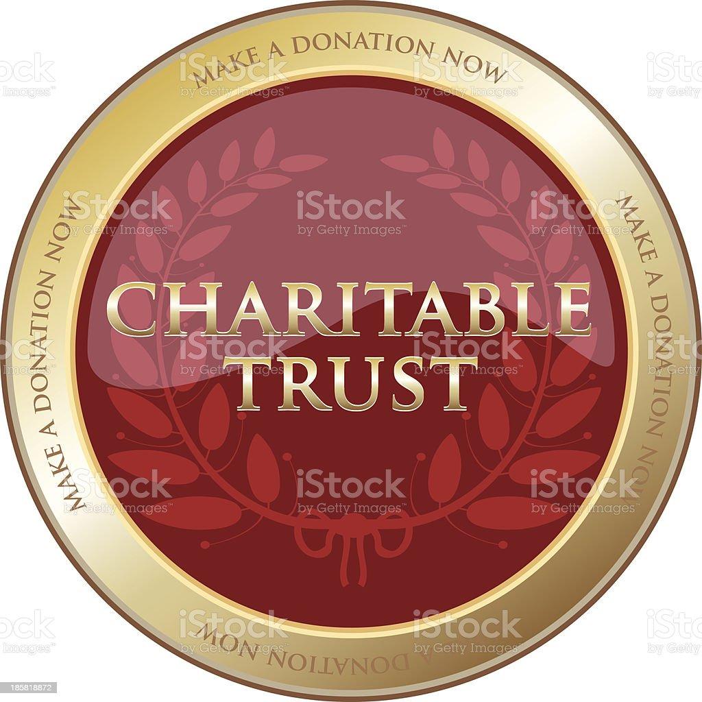 Charitable Trust Gold Emblem vector art illustration