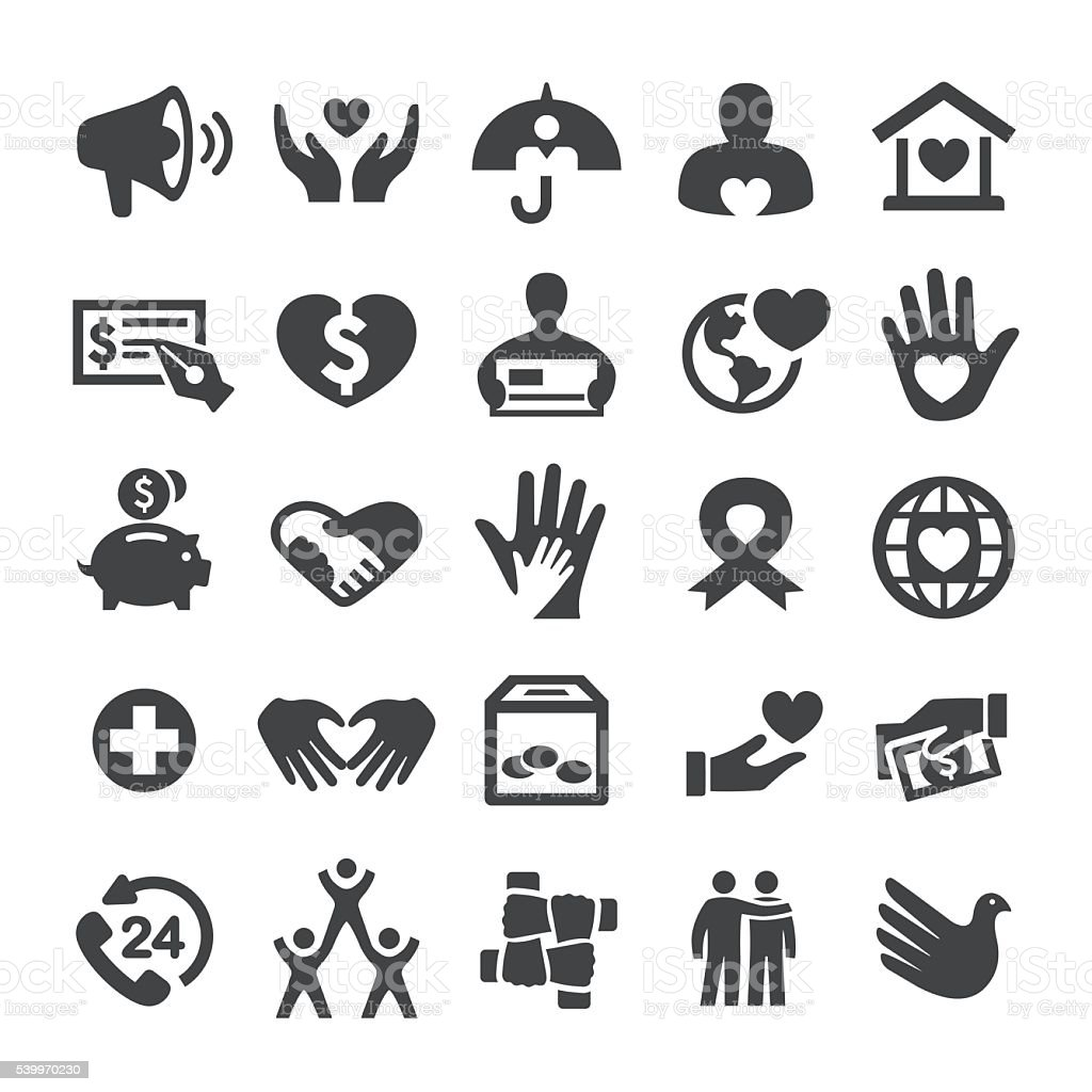 Charity and Relief Icons - Smart Series royalty-free stock vector art