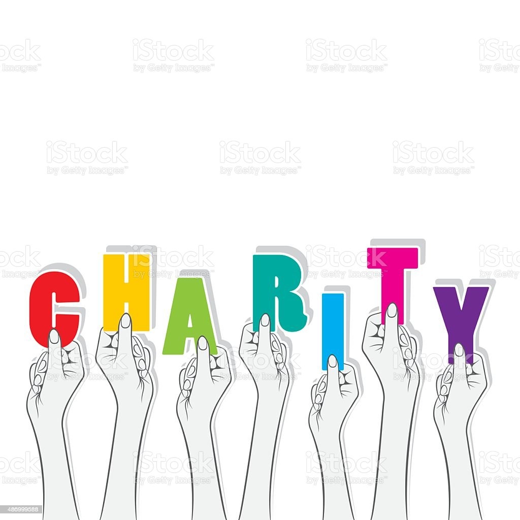 charity banner design vector art illustration