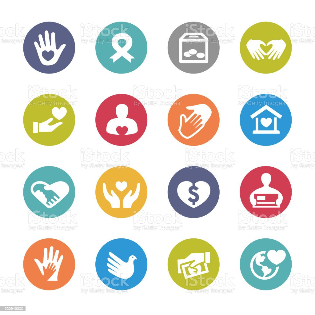 Charity Icons - Circle Series vector art illustration