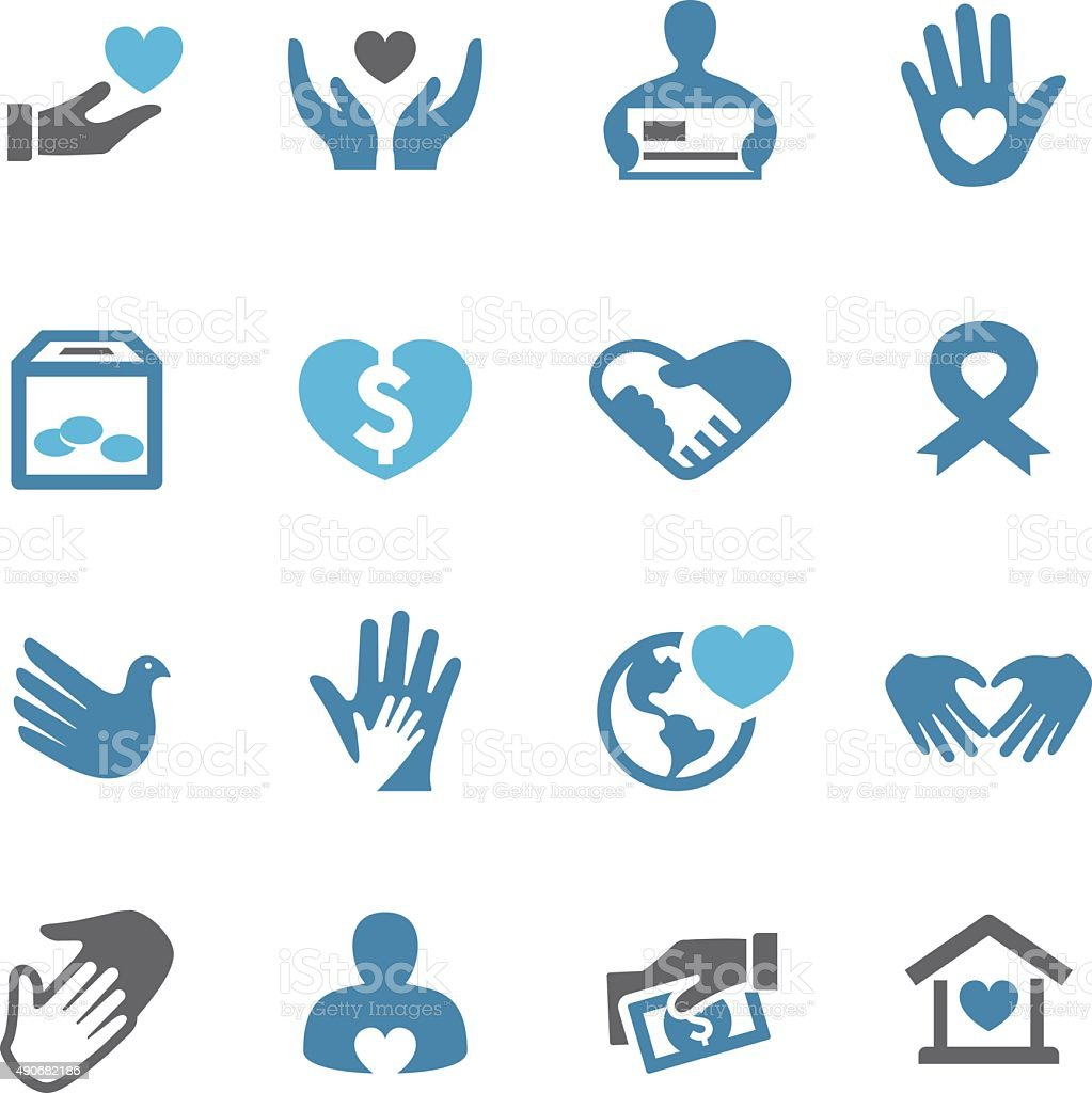 Charity Icons - Conc Series vector art illustration