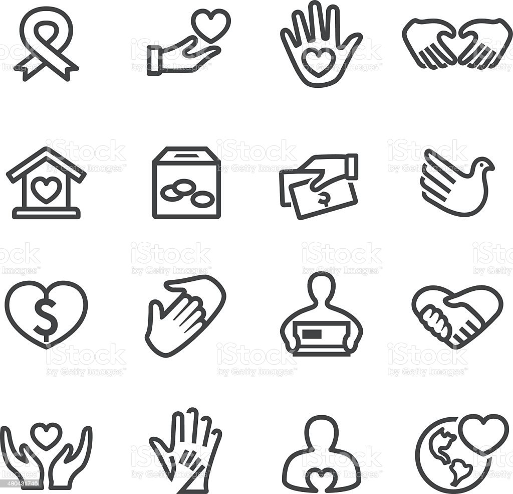 Charity Icons - Line Series vector art illustration