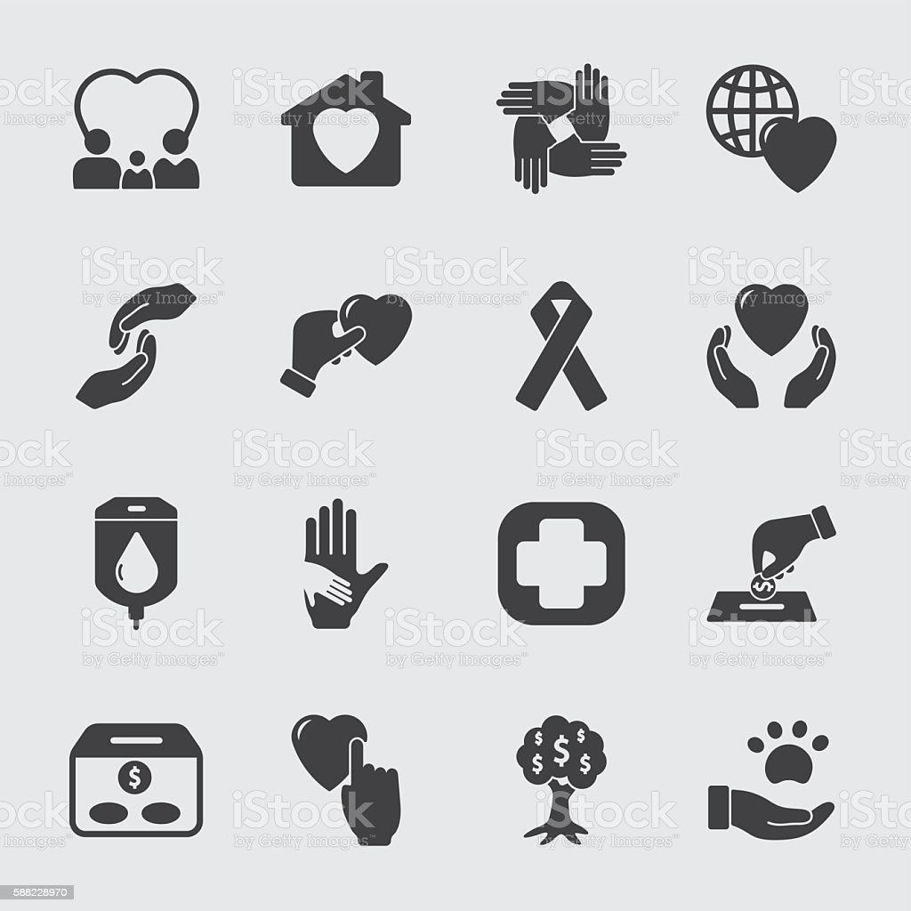 Charity vector icon vector art illustration