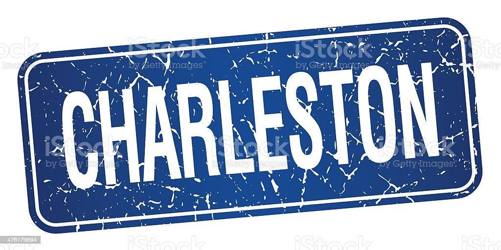 Charleston blue stamp isolated on white background vector art illustration