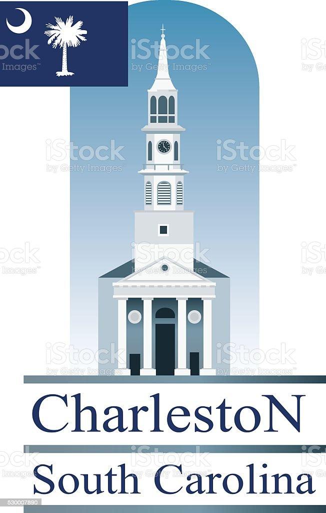 Charleston SC vector art illustration