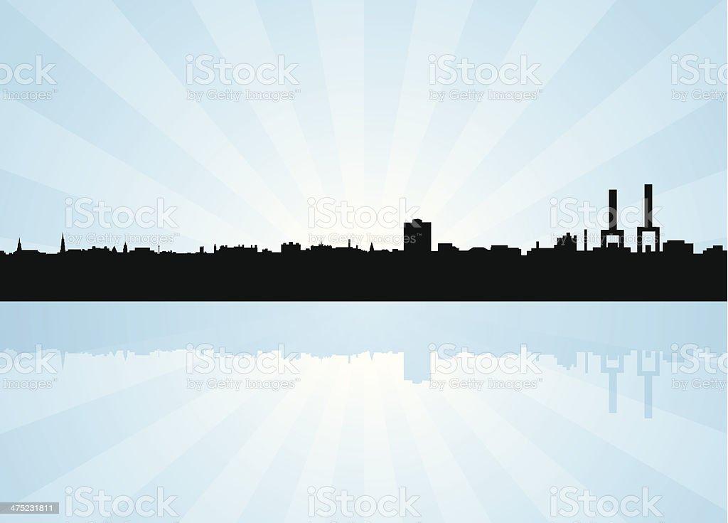 Charleston South Carolina (SC) Skyline vector art illustration