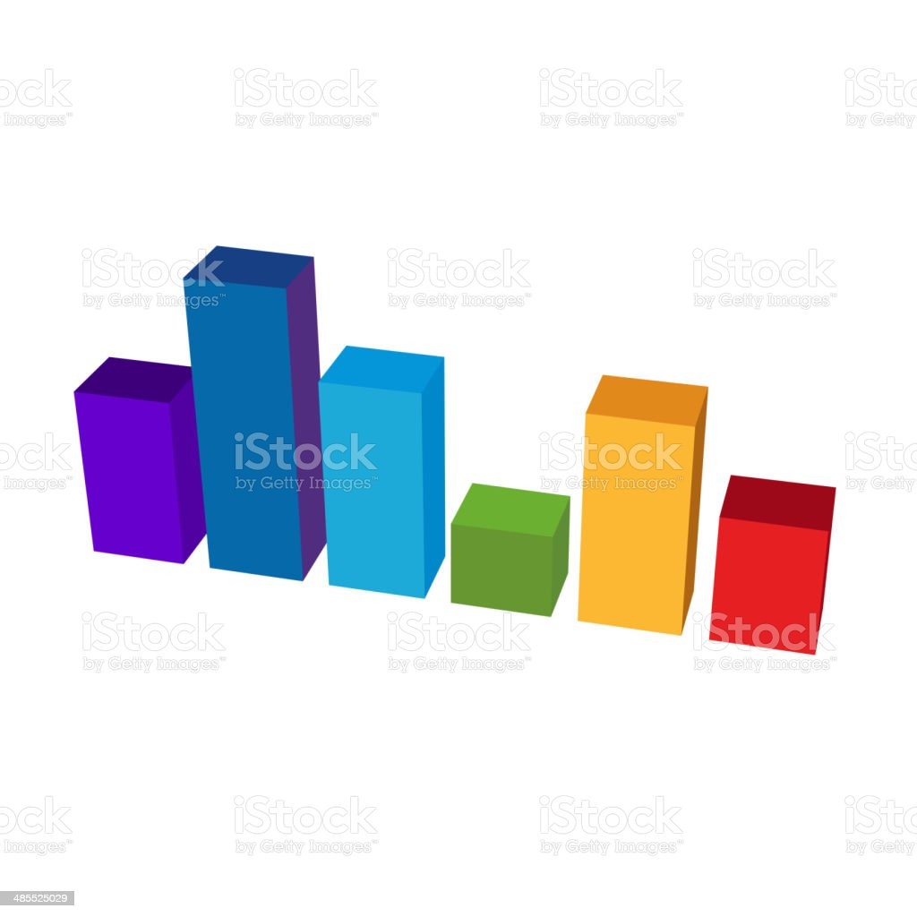 Chart Color Diagram Icon. Vector royalty-free stock vector art